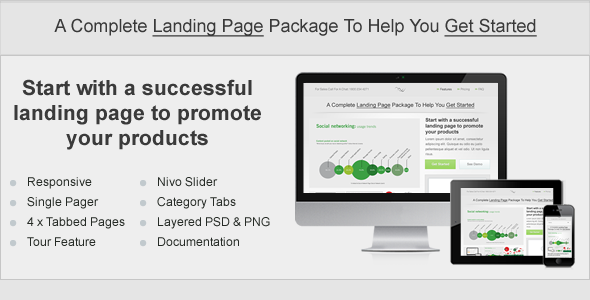 Start. Responsive Landing Page - Landing Pages Marketing