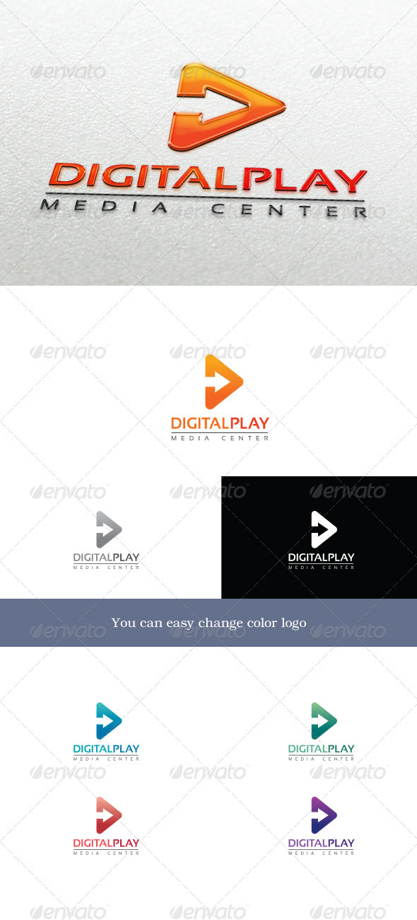 DigitalPlay Logo - Symbols Logo Templates