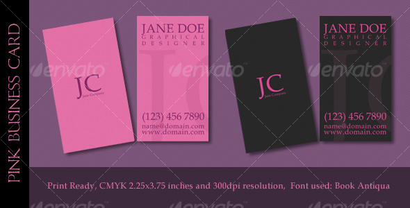 Pink Business Card - Corporate Business Cards