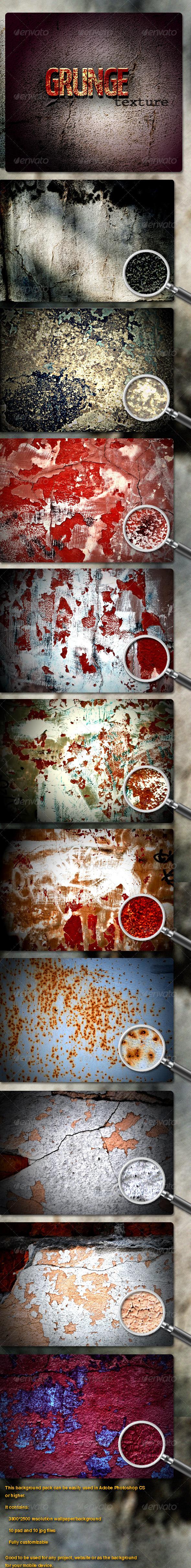 10 Grunge Textures - Industrial / Grunge Textures