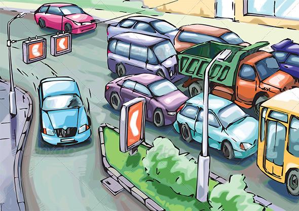 Detour of a Traffic Jam - Conceptual Vectors