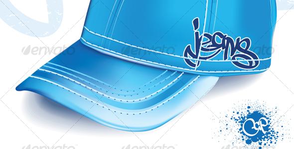 jeans cap - Objects Vectors