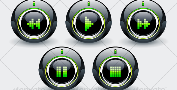 High tech buttons - Technology Conceptual