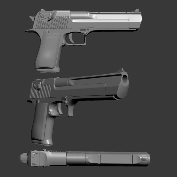 High Poly Desert Eagle - 3DOcean Item for Sale