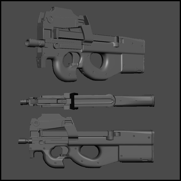 High Poly FN P90 - 3DOcean Item for Sale