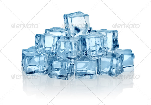 Ice cubes - Stock Photo - Images