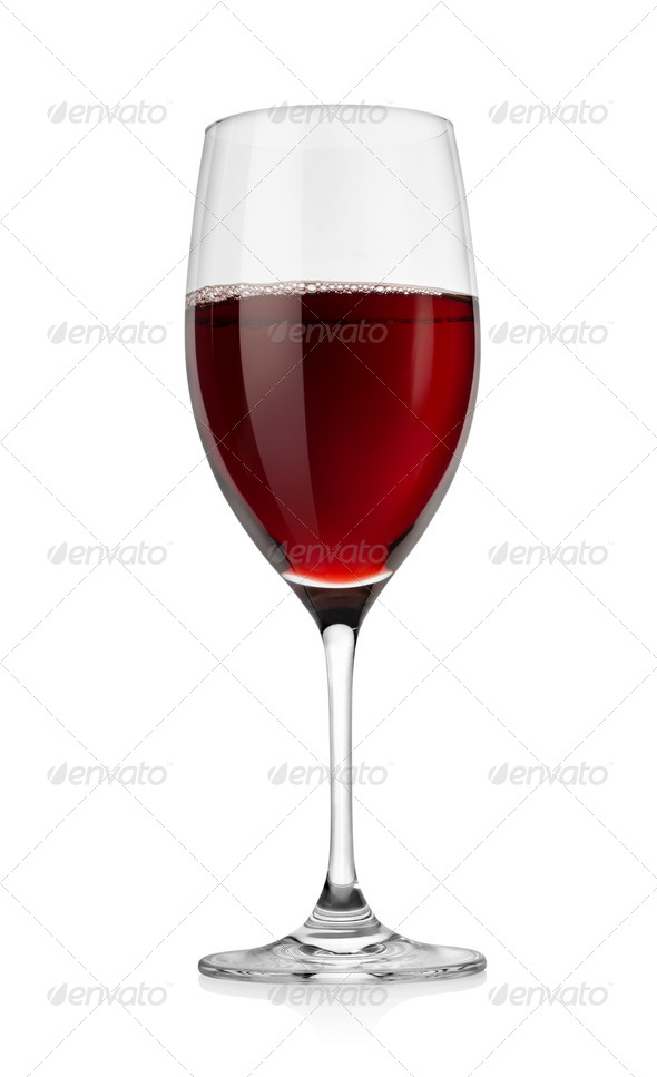Red wine in glass - Stock Photo - Images