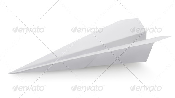 Plane made of a paper - Stock Photo - Images