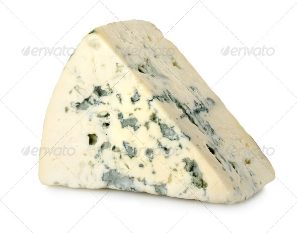 Blue cheese isolated - Stock Photo - Images