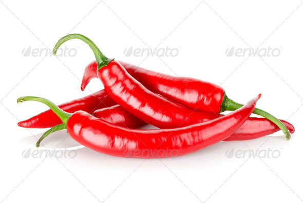 Hot chili peppers - Stock Photo - Images