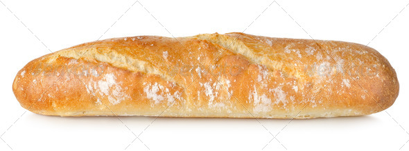 Fresh long loaf isolated - Stock Photo - Images