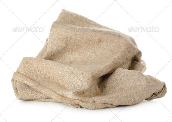 Burlap bag - Stock Photo - Images