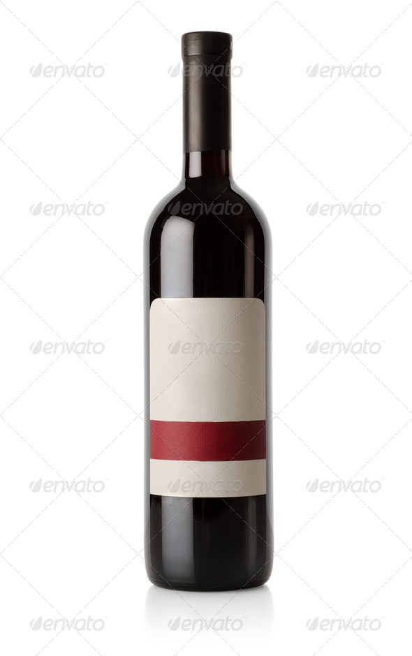 Bottle of red - Stock Photo - Images
