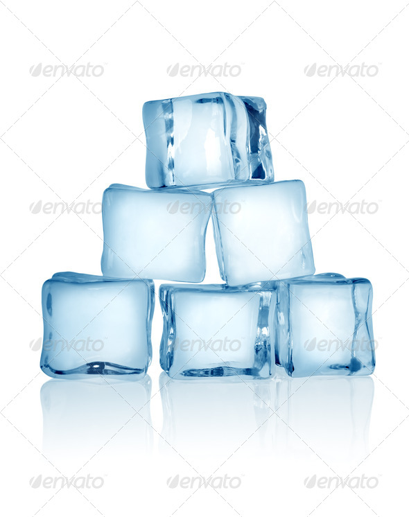 Ice cubes isolated - Stock Photo - Images