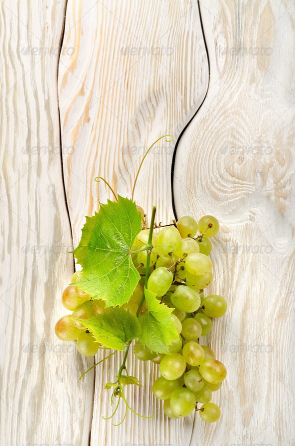 Green grapes on the table - Stock Photo - Images