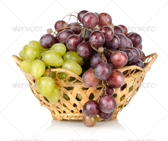 Green and blue grapes - Stock Photo - Images