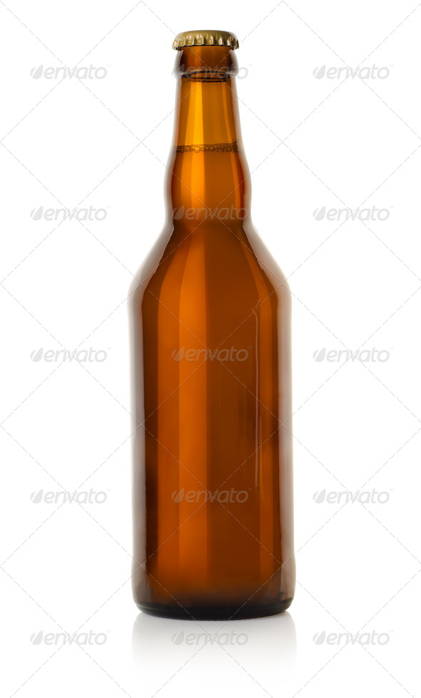 Beer in a brown bottle - Stock Photo - Images
