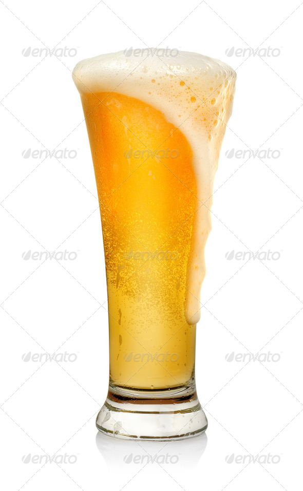 Glass of beer isolated - Stock Photo - Images