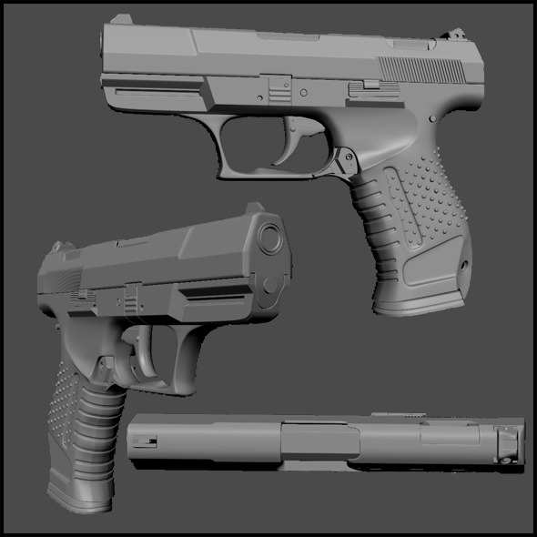 High Poly Walther P99 - 3DOcean Item for Sale