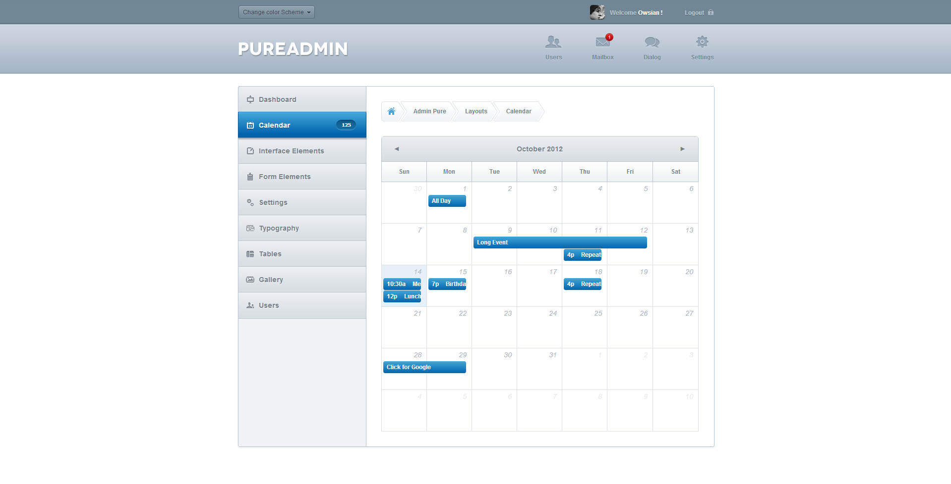 Pure Admin - Modern & Clean Admin Template by webtunes | ThemeForest