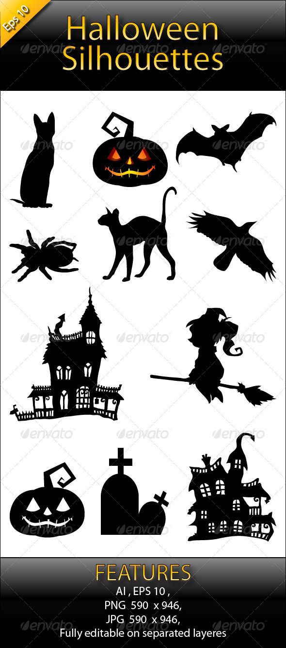 Halloween Silhouettes Pack - Halloween Seasons/Holidays