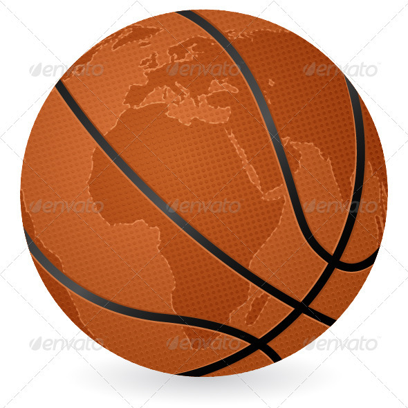 World map basketball ball - Sports/Activity Conceptual