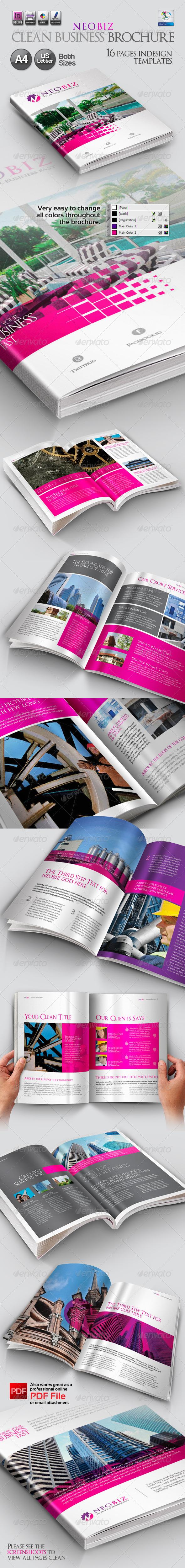 NeoBiz Clean Business Brochure - Corporate Brochures