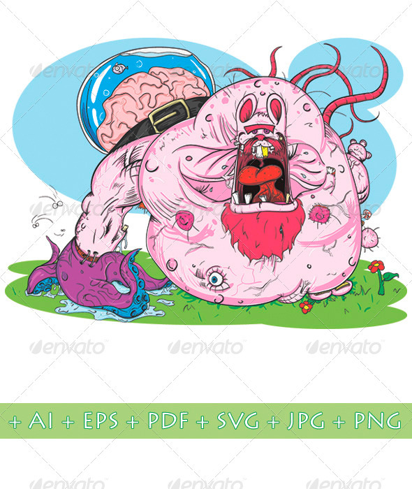 Pink Monster - Monsters Characters