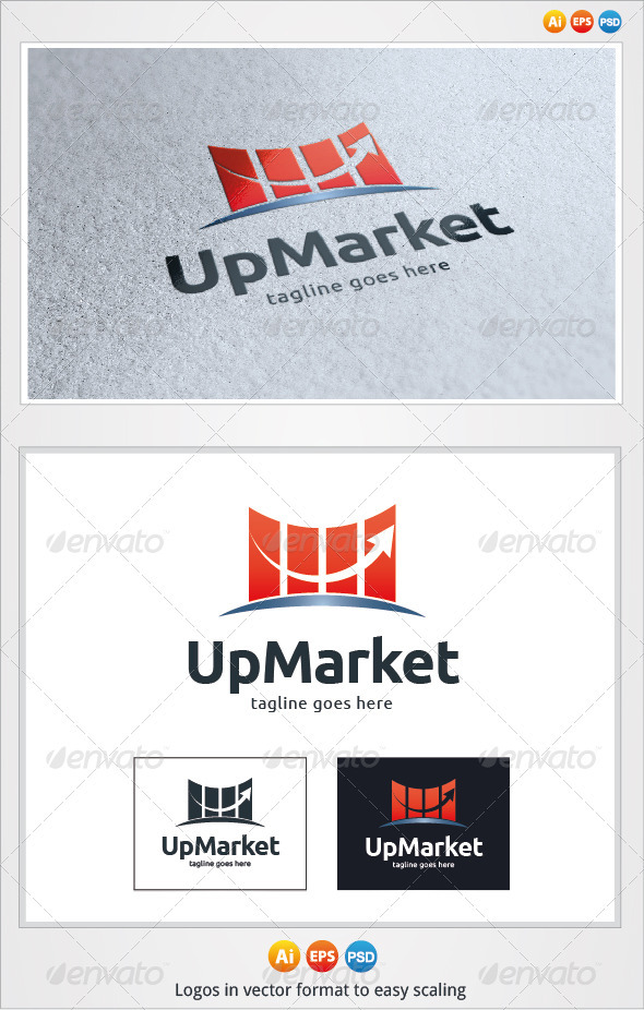 Up Market Logo - Symbols Logo Templates