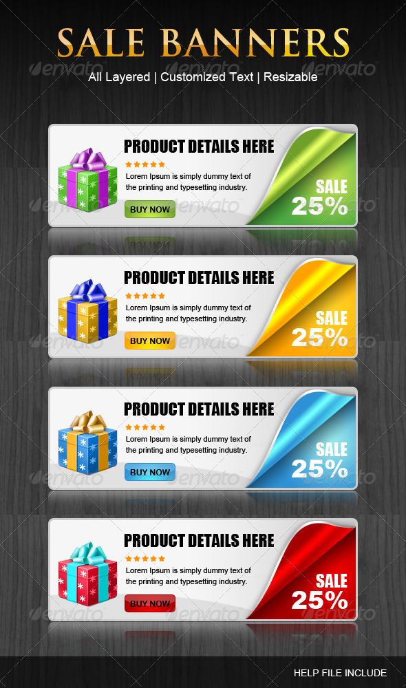 Set of coupen Banners - Banners & Ads Web Elements