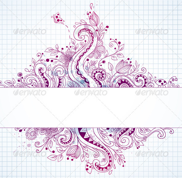 Hand Drawn Vector Banner - Backgrounds Decorative