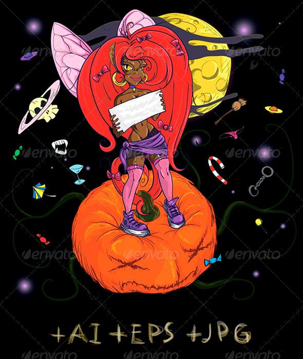 Little Spiteful Fairy - Halloween Seasons/Holidays