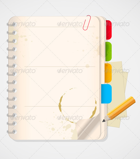 Notebook and Yellow Pencil - Backgrounds Business