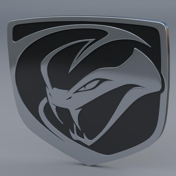 Dodge Viper Stryker Logo - 3DOcean Item for Sale
