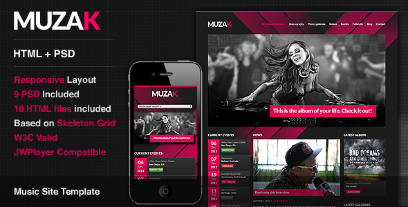 Muzak – Premium Music Site Template