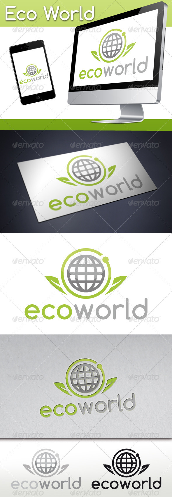 Eco World Logo - Nature Logo Templates