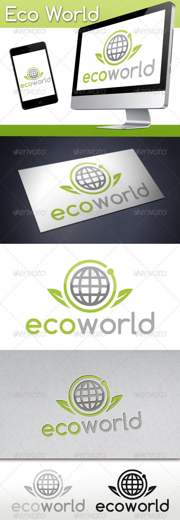 Eco World Logo - Nature Logo Templates