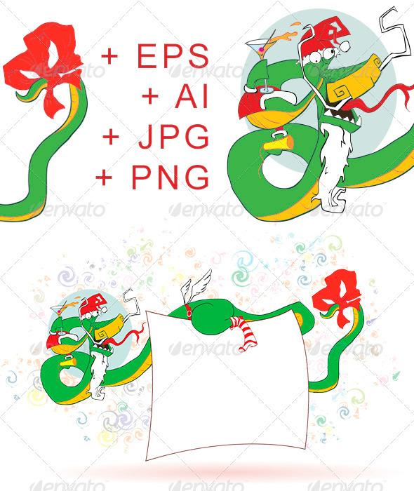 Dragon ?elebrates New Year - New Year Seasons/Holidays