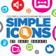 Simple Icons - GraphicRiver Item for Sale