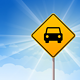 Car Roadsign on Blue Sky - GraphicRiver Item for Sale