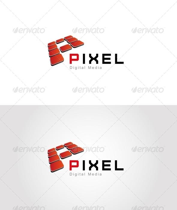 Pixel Logo - Letters Logo Templates