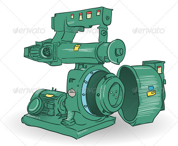 Industrial Machine Illustration - Industries Business