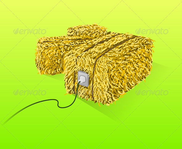 Straw Bales Illustration - Conceptual Vectors