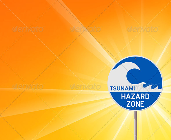 Tsunami Warning and Sunshine - Objects Vectors