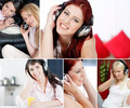 Women listening to music compilation.  - PhotoDune Item for Sale