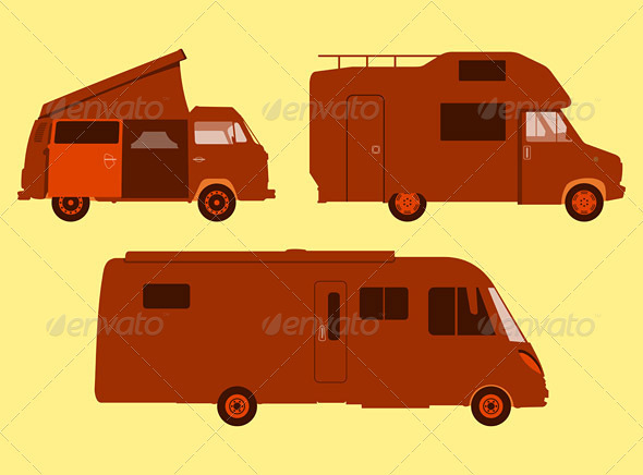 Motorhome Silhouette - Travel Conceptual