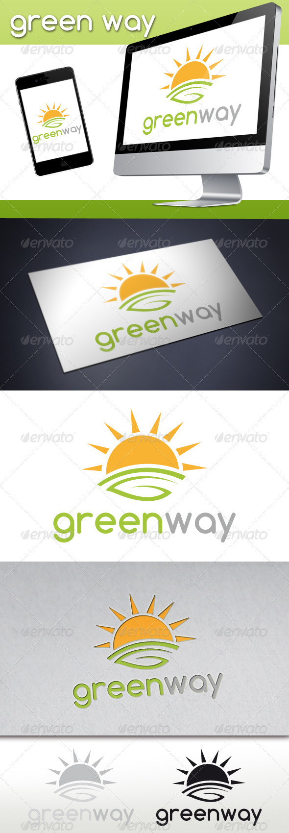 Green Way Logo - Nature Logo Templates