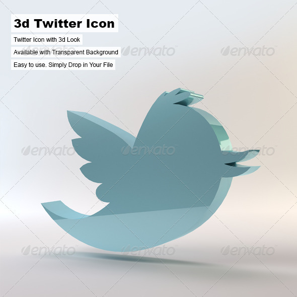 3D Twitter Icon - Miscellaneous 3D Renders