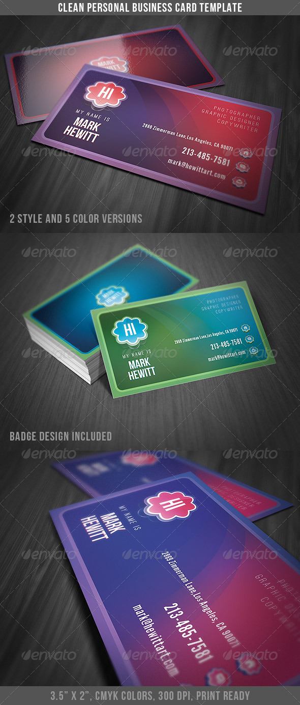 Clean Personal Business Card - Creative Business Cards
