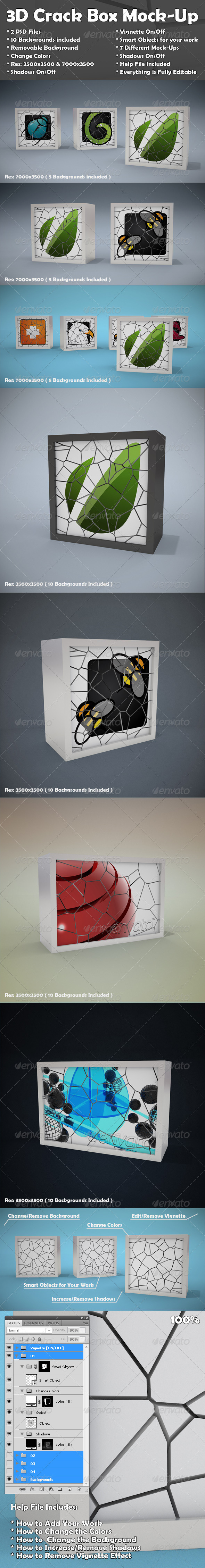 Crack Box Mockup - Miscellaneous Displays